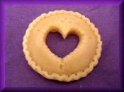 3 inch Wax Heart Pie Crust