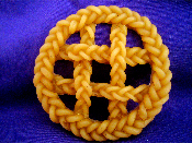 3 inch Wax Large Braided Pie Crust