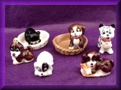 Puppies & Baskets (Porcelain) miniature