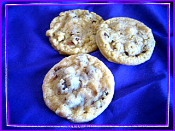Wax Fake Chocolate Chip Cookies, 3 fake cookies