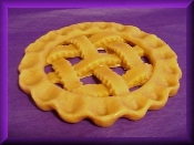 5 inch Wax Country Lattice Pie Crust
