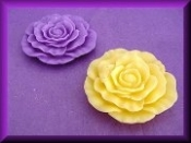 Wax Flat Floating Open Flower Assorted Colors