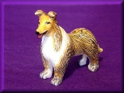 Porcelain Miniature Collectible Collie Dog