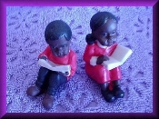 Children Reading Miniature Porcelain Collectible
