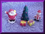 Christmas Set Porcelain RND Miniature Collectibles