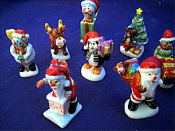 Christmas Theme Porcelain RND Miniature Collectible
