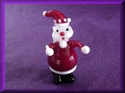 Fat Santa Claus - Glass Miniature