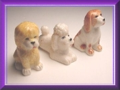 Poodle Set (Porcelain) Collectible