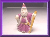 Pink Porcelain Wizard with Cane