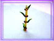 Bamboo large Glass Miniature Collectible