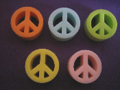 Peace Sign Guest Size Soap in Assorted Colors