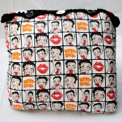 "BETTY BOOP Pillow, Fabric and Crochet, 18"" x 18"""